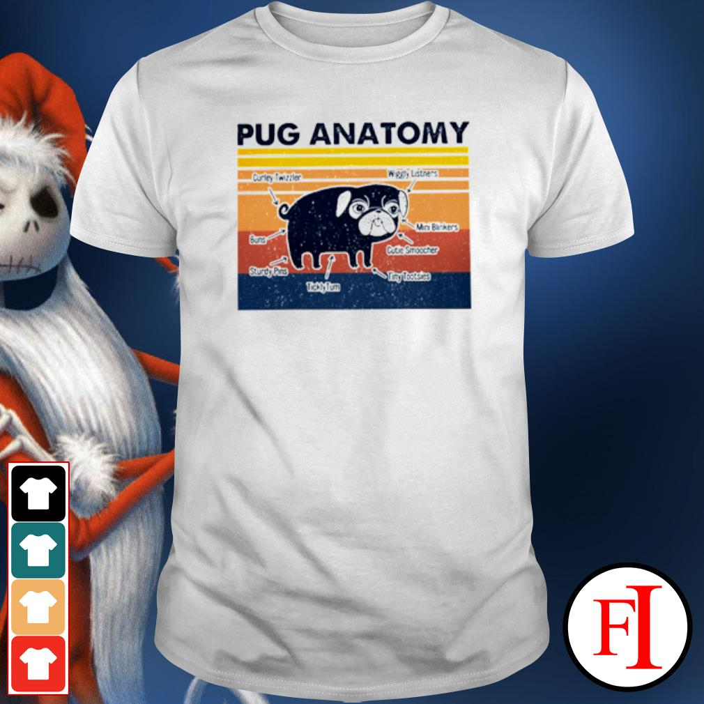 The Pug anatomy vintage shirt