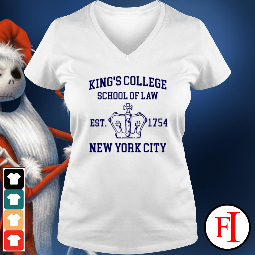 Alexander Hamilton king's college school of law est 1954 New York city v-neck-t-shirt