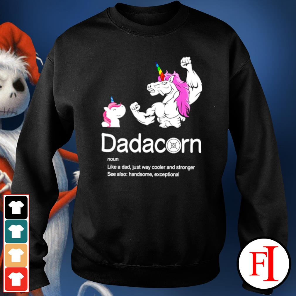 Dadacorn like a dad just way cooler and stronger see also handsome exceptional sweater