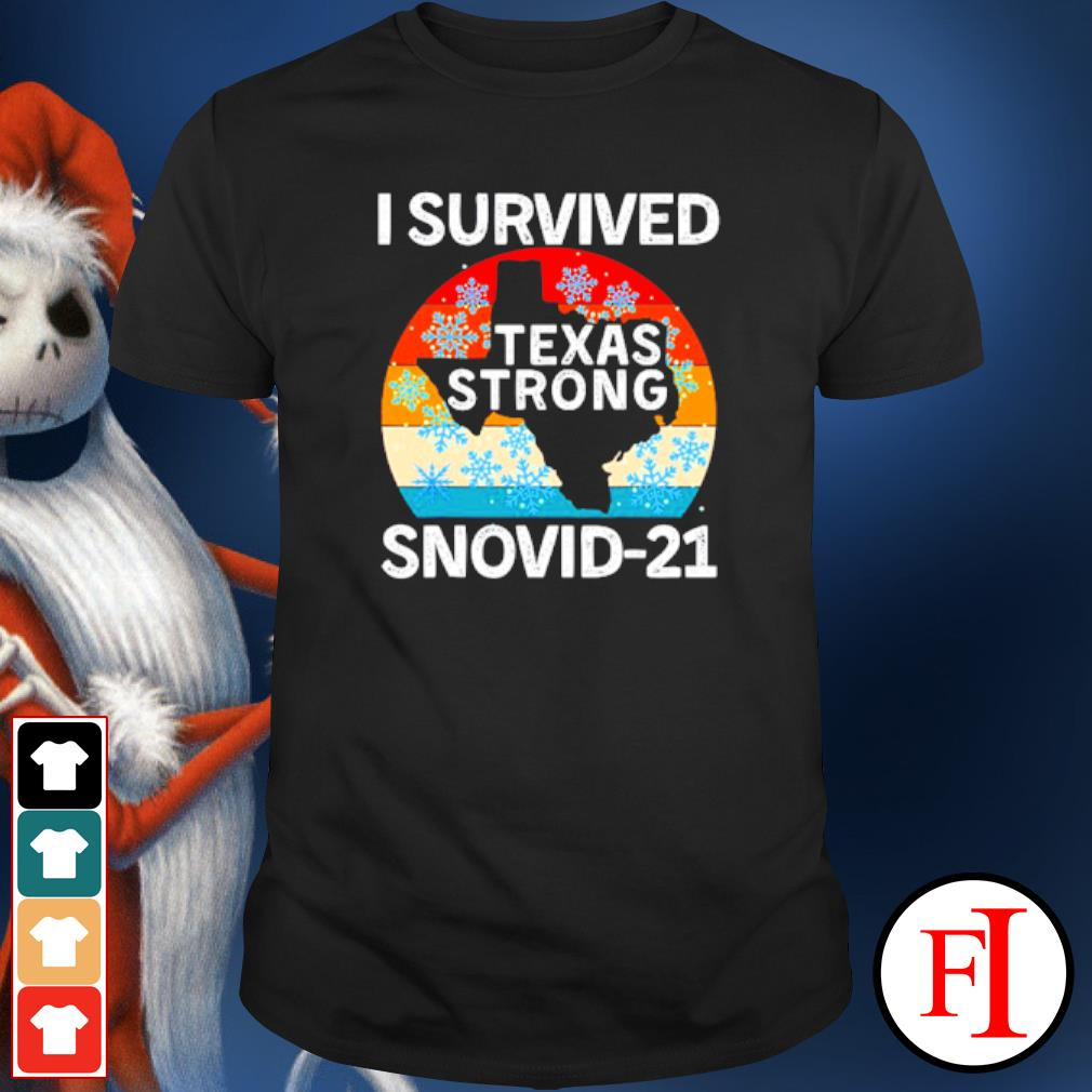 I Survived Snovid-21 Texas Tee Winter 2021 Texas Snow Storm shirt