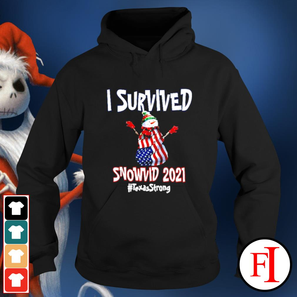 I Survived Snowvid 2021 Texas Raglan Baseball hoodie