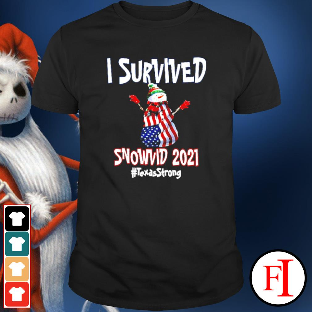 I Survived Snowvid 2021 Texas Raglan Baseball shirt