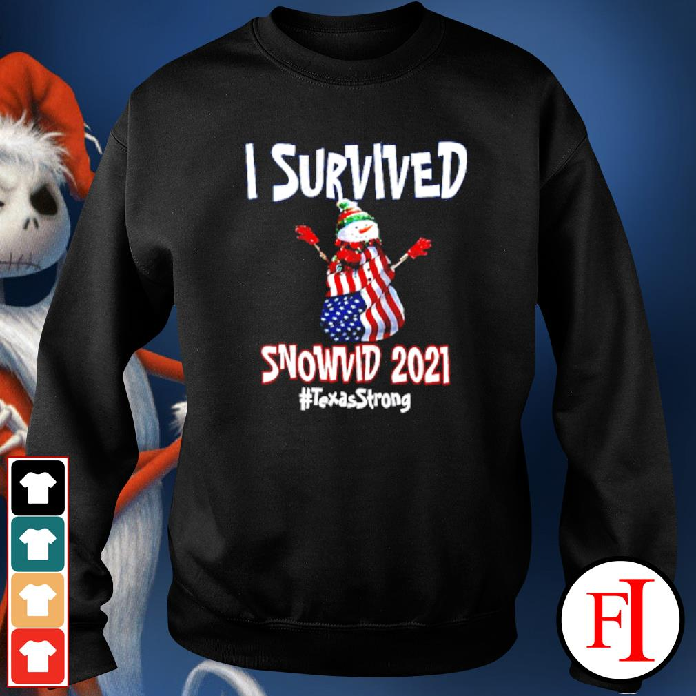 I Survived Snowvid 2021 Texas Raglan Baseball sweater