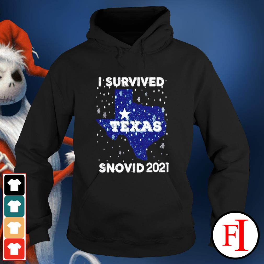 I Survived The 2021 Texas Snow Apocalypse Cold Snow Storm hoodie