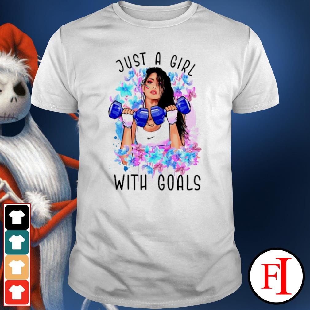 Just a girl with Goals dumbbell shirt