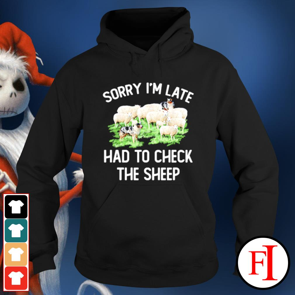 Sorry I'm late had to check the sheep hoodie