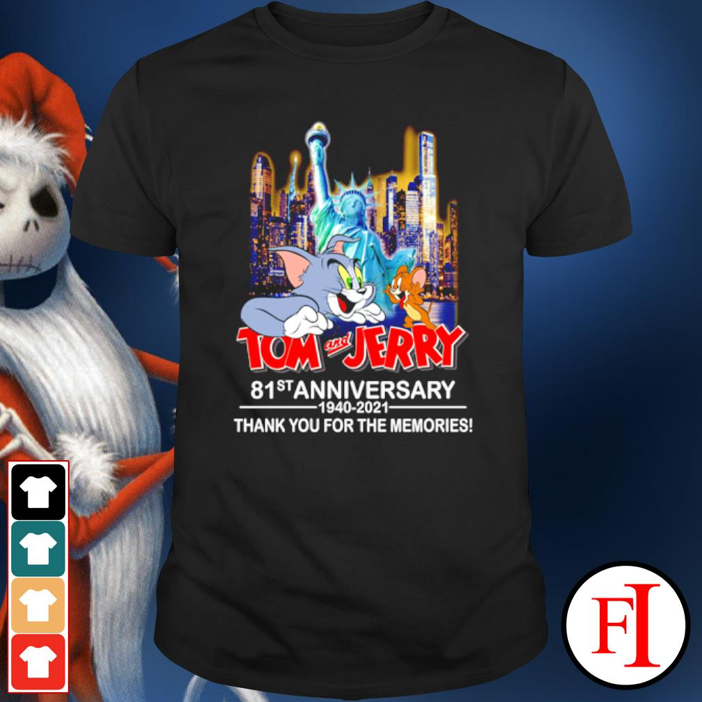 Tom and Jerry 81st anniversary 1940 2021 thank you for the memories shirt