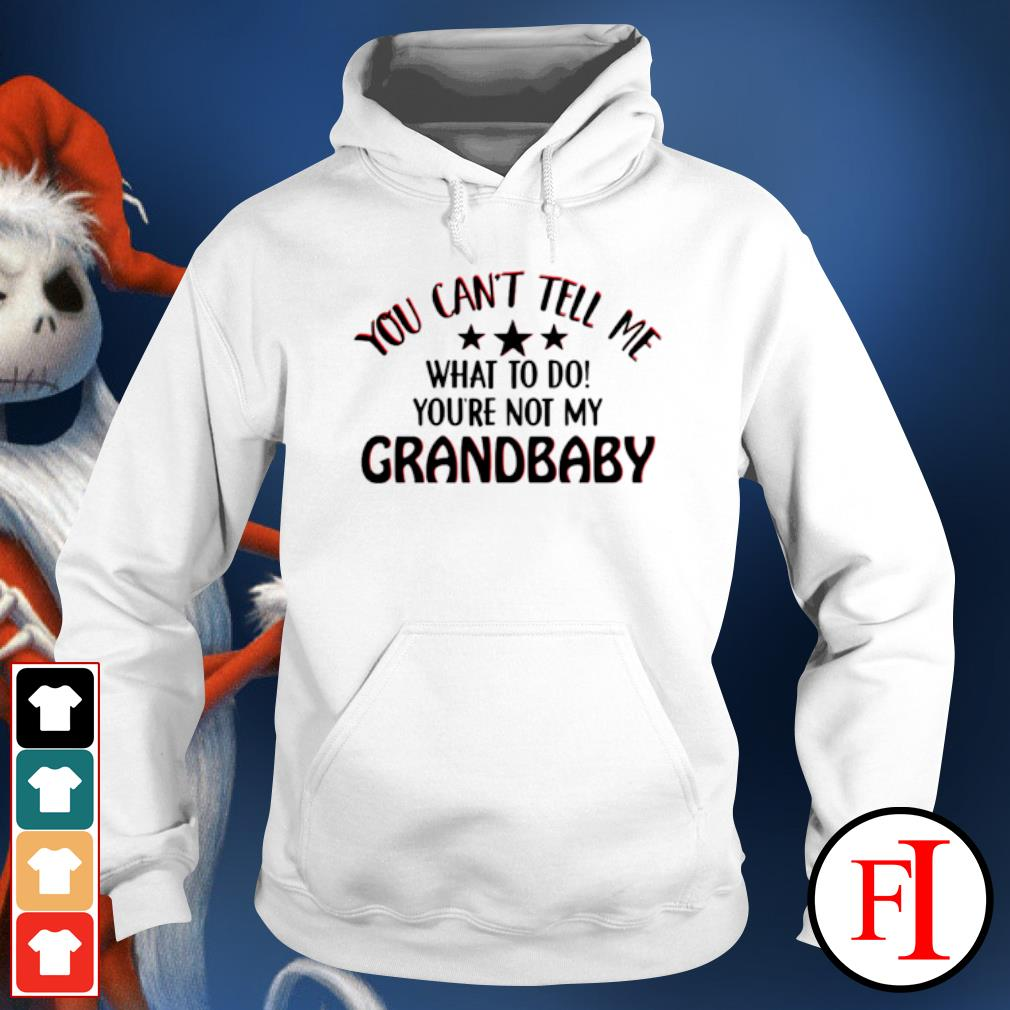 You can't tell me what to do you're not my grandbaby hoodie