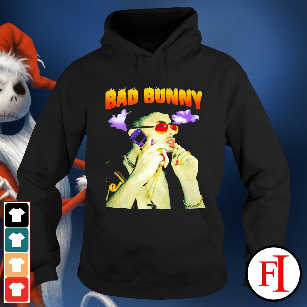 Bad Bunny purple cellphone hoodie