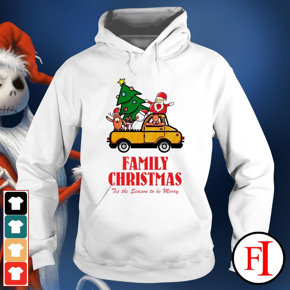 Family Christmas tis the season to be merry hoodie