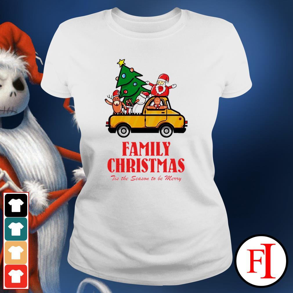 Family Christmas tis the season to be merry ladies-tee