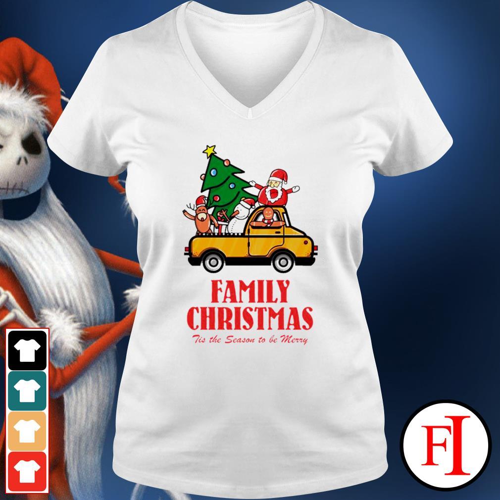 Family Christmas tis the season to be merry v-neck-t-shirt