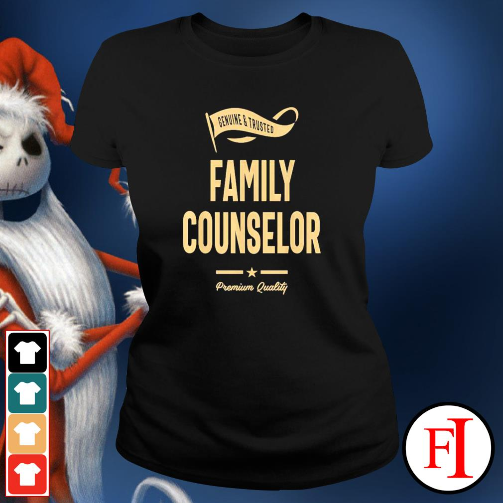 Genuine and trusted family counselor ladies-tee