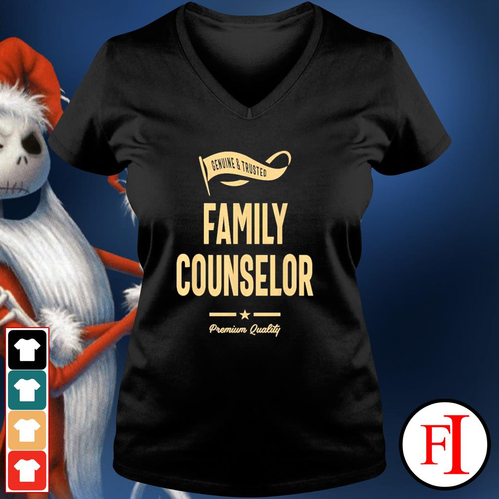 Genuine and trusted family counselor v-neck-t-shirt