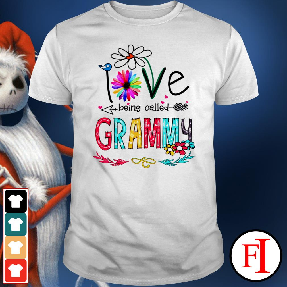Love being called Grammy flowers shirt