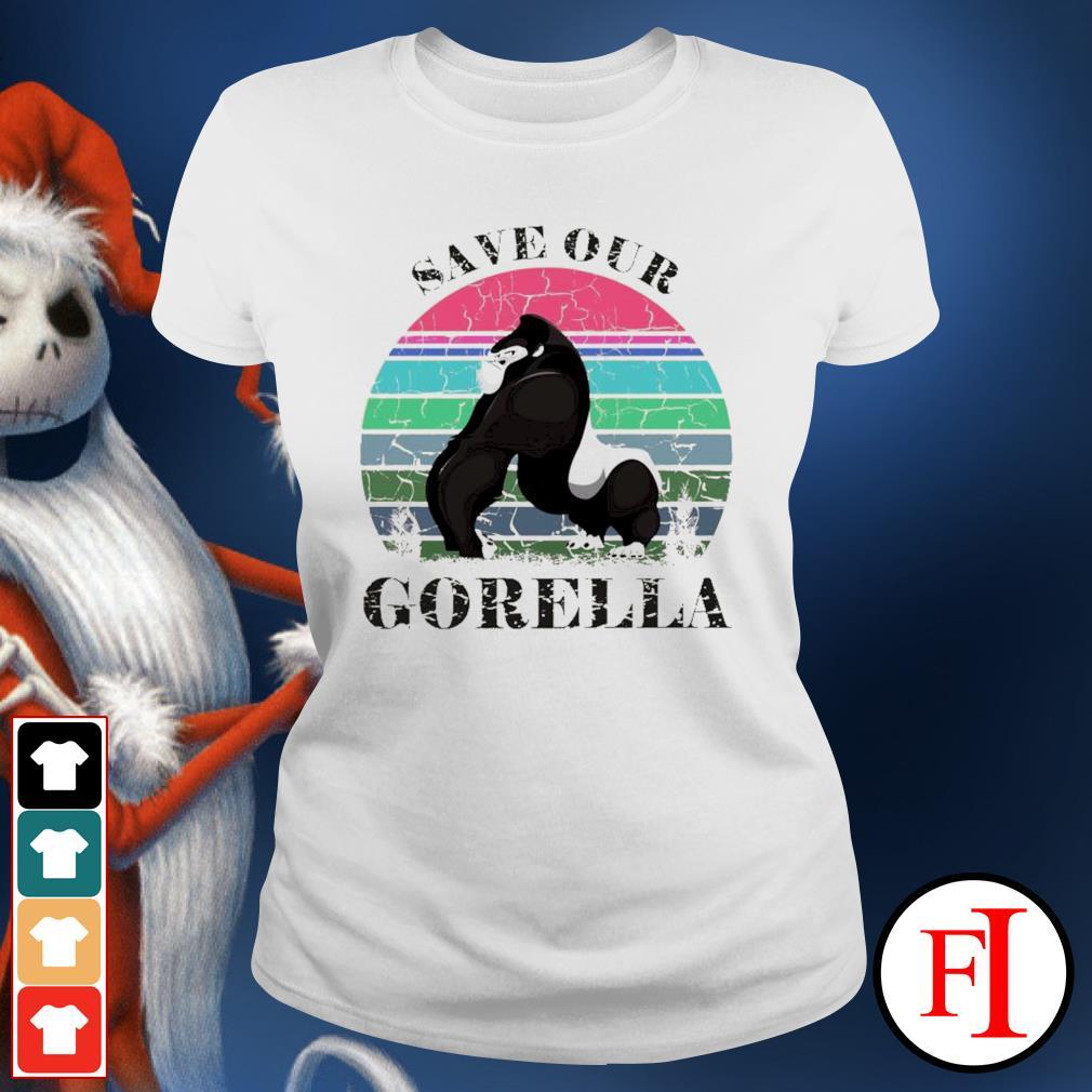 Save our Gorella vintage ladies-tee
