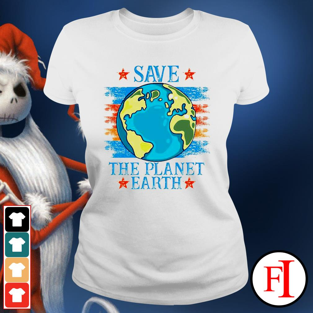 Save the planet Earth ladies-tee