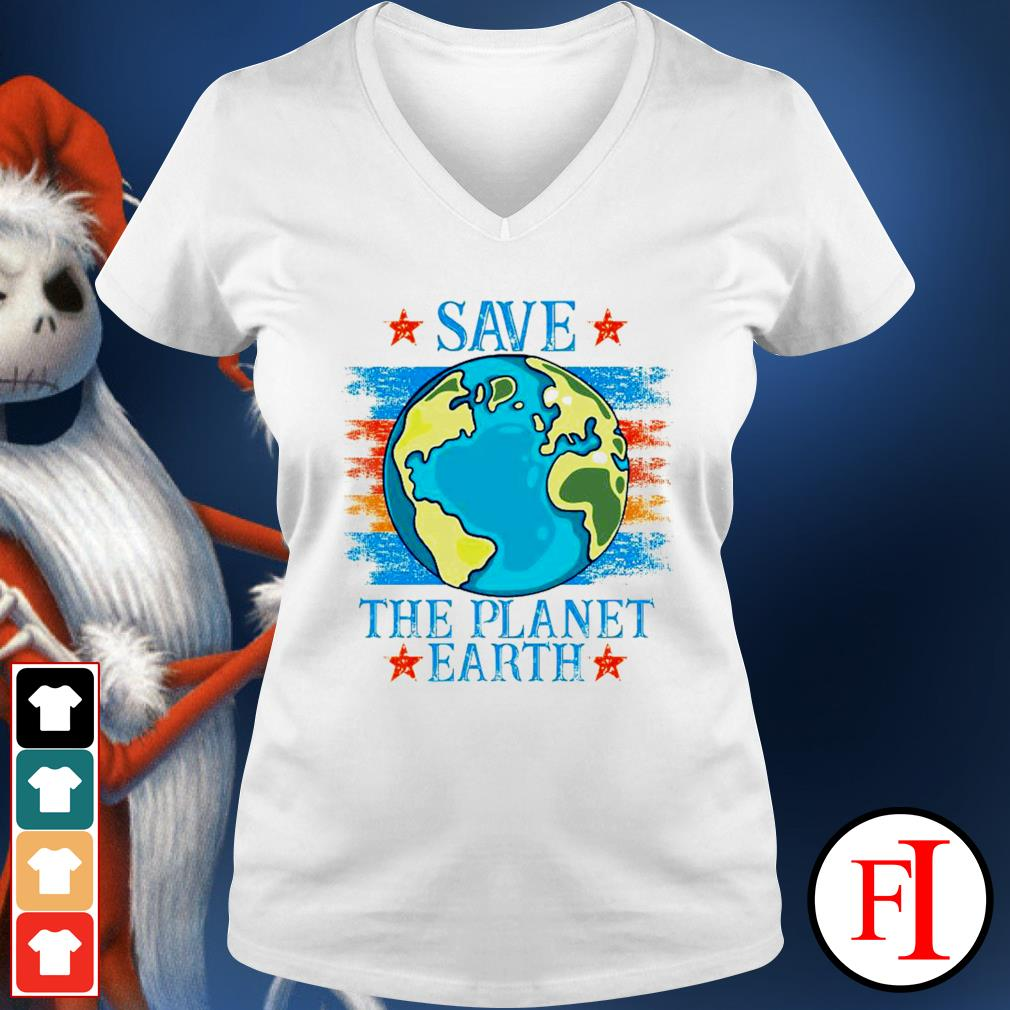Save the planet Earth v-neck-t-shirt