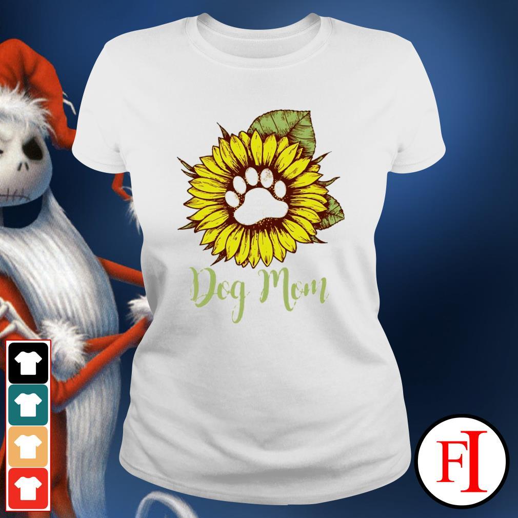 Sunflower paw dog mom ladies-tee