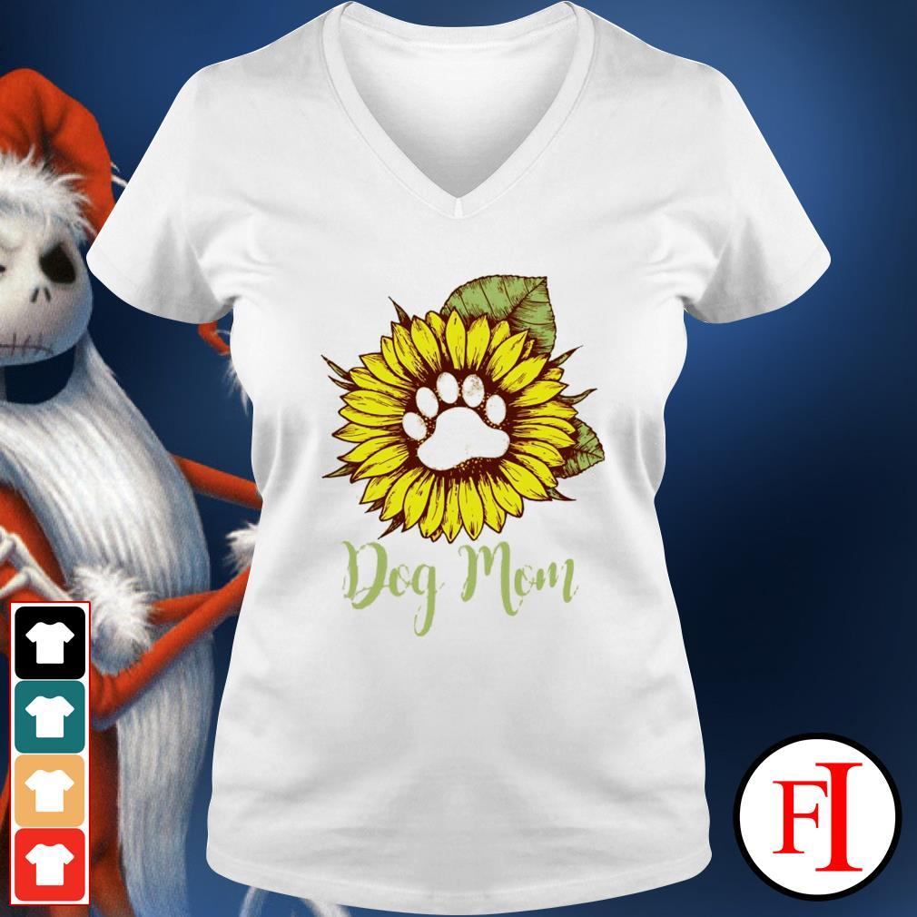 Sunflower paw dog mom v-neck-t-shirt