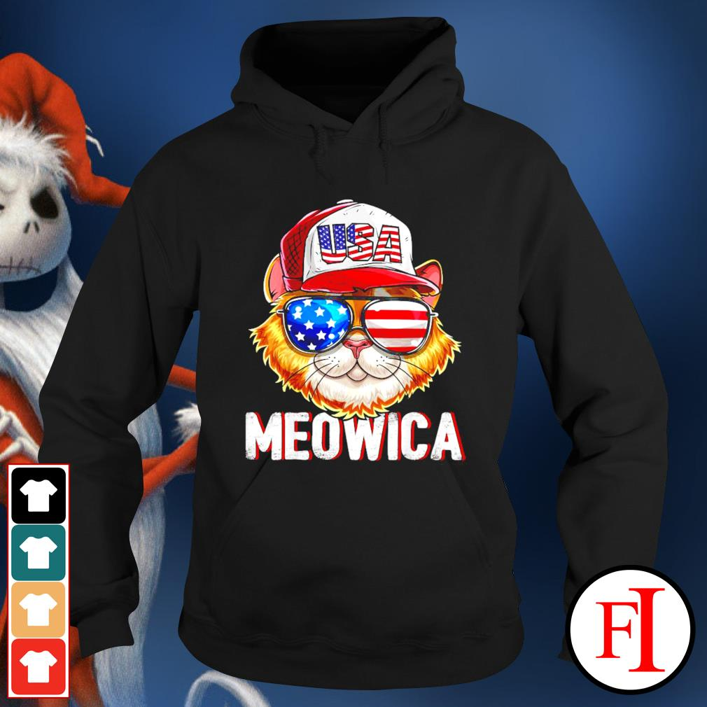 USA Cat Meowica independence day 4th of July hoodie