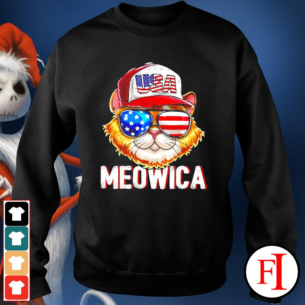 USA Cat Meowica independence day 4th of July sweater