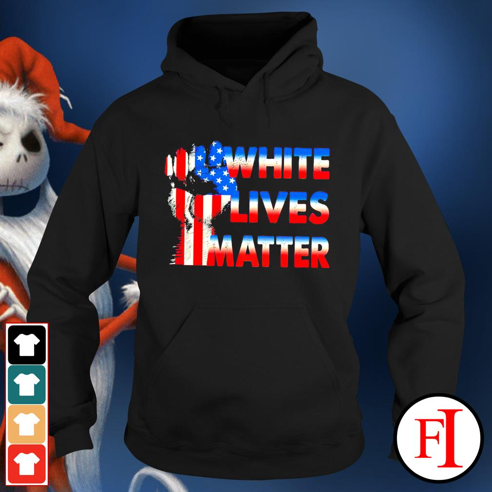 White lives matter American flag hoodie