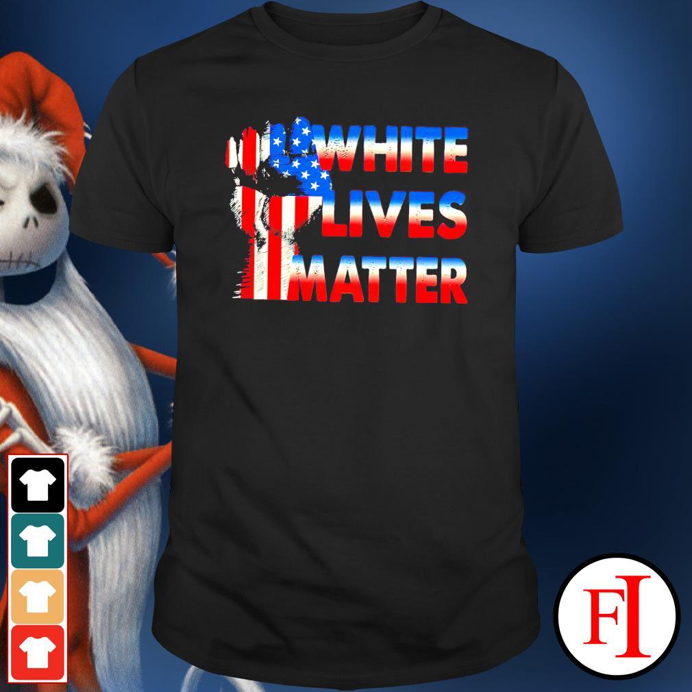 White lives matter American flag shirt