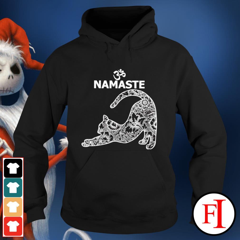 Yoga Namaste Cat tattoo hoodie