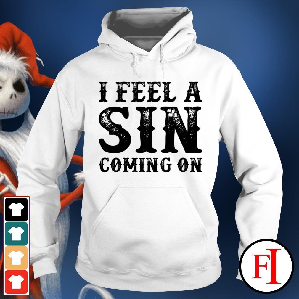 I feel a sin coming on hoodie