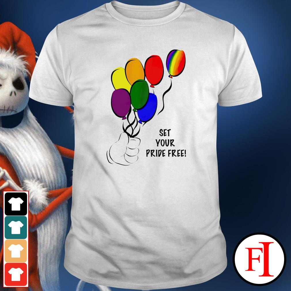 Set your pride free LGBT shirt