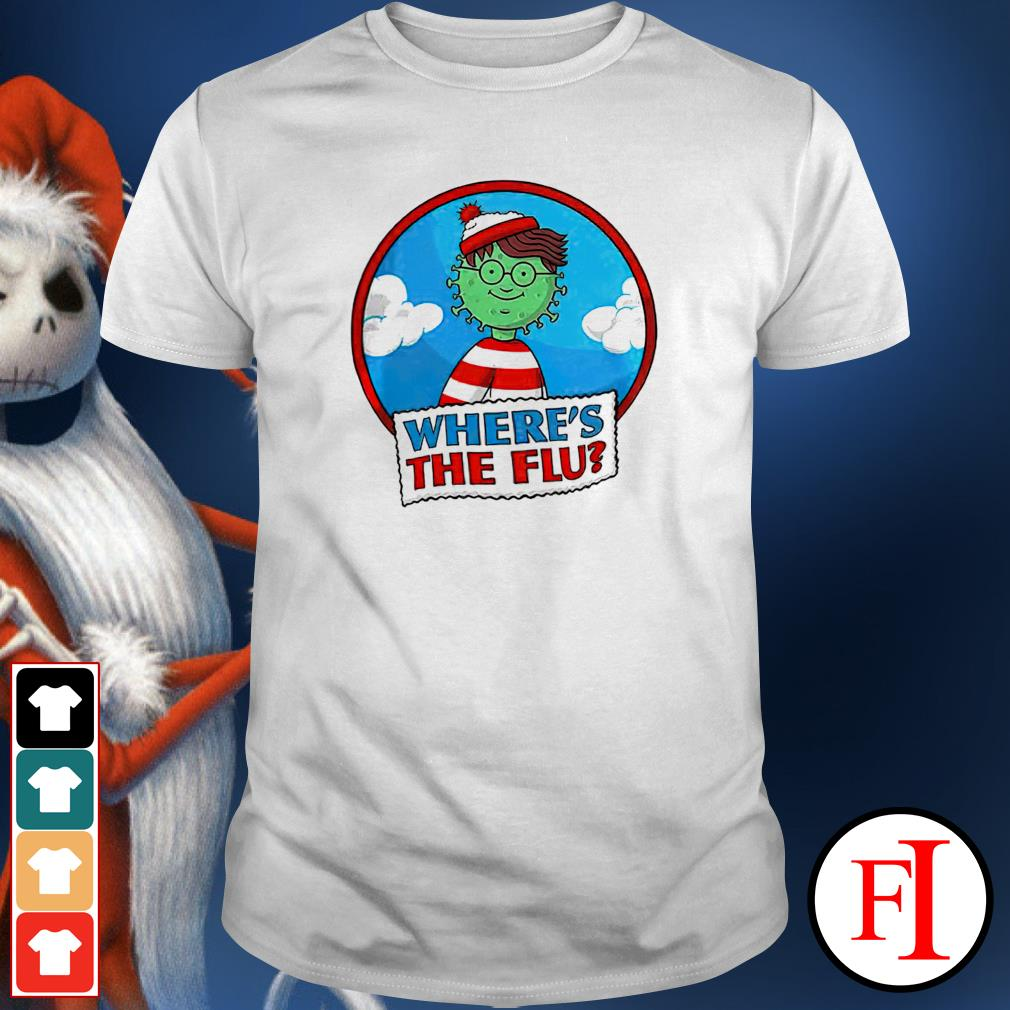 Where's Waldo Where's Flu Covid 19 shirt