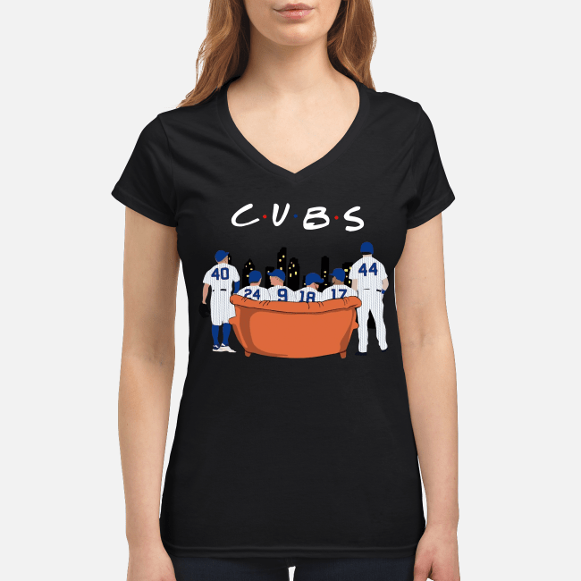 Chicago Cubs Friends TV show V-neck t-shirt
