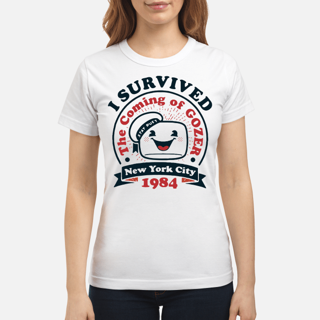 New York city 1984 I survived the coming of Gozer Ladies Tee