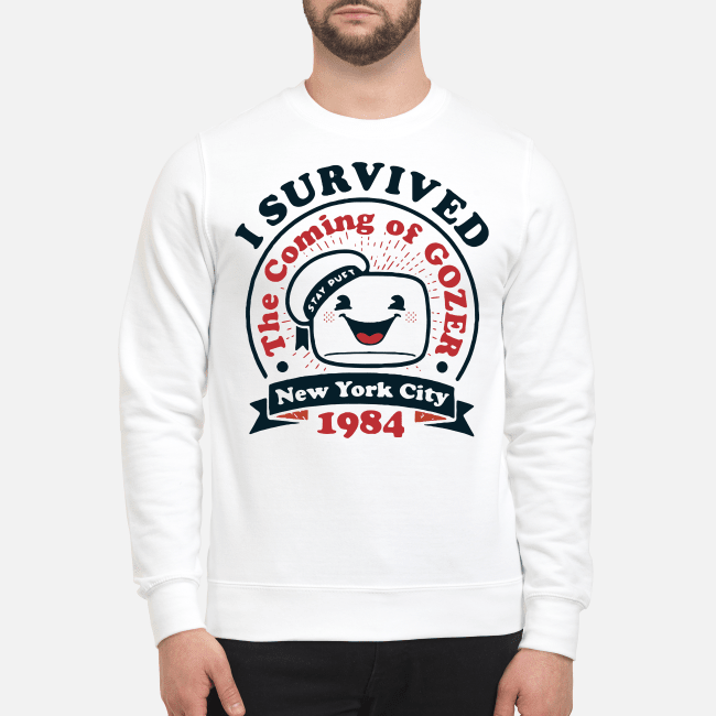 New York city 1984 I survived the coming of Gozer Sweater