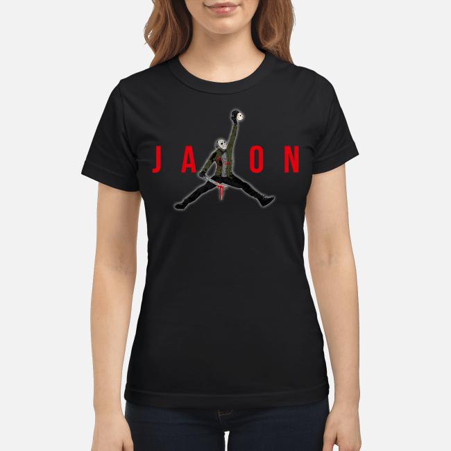 Official Air Jordan Jason Voorhees Ladies Tee