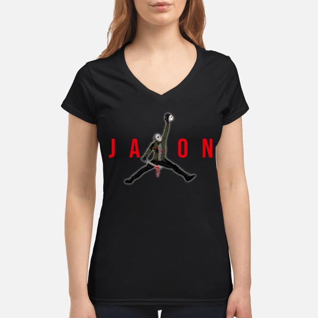 Official Air Jordan Jason Voorhees V-neck t-shirt
