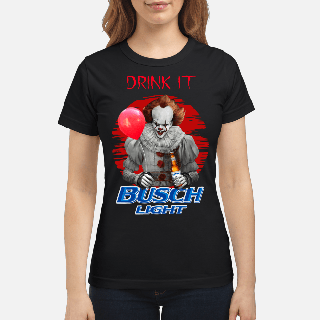 Official Pennywise drink it Busch Light Ladies Tee