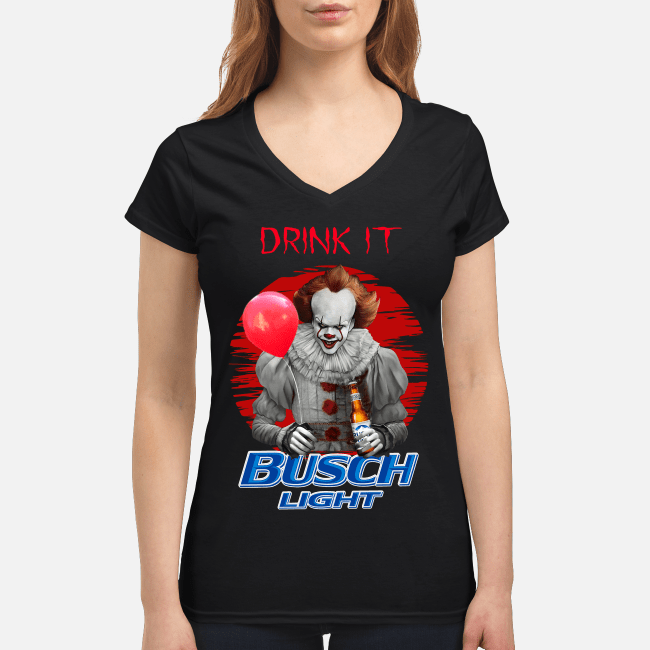 Official Pennywise drink it Busch Light V-neck t-shirt