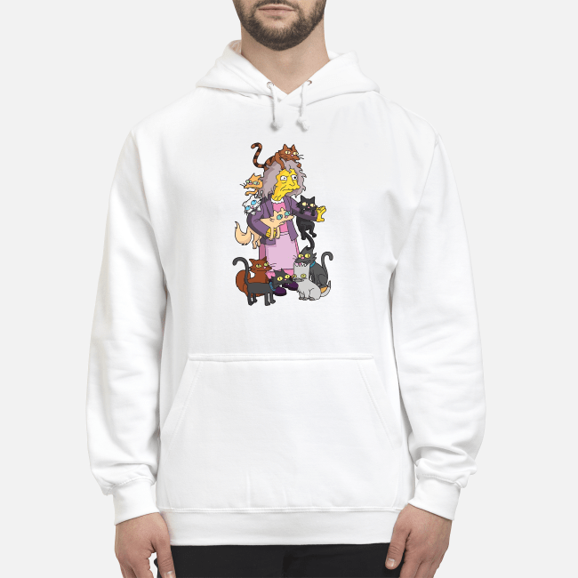 Official The Simpsons the crazy cat lady Hoodie