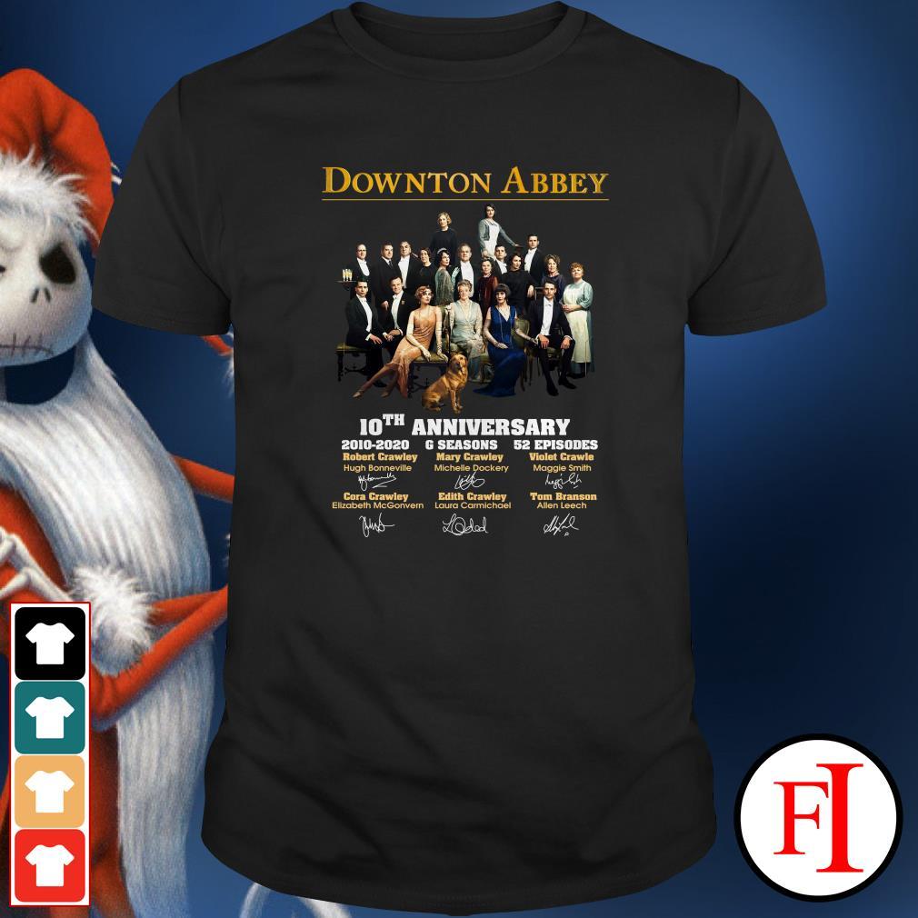 10th Anniversary Downton Abbey 2010-2020 6 seasons signatures Shirt