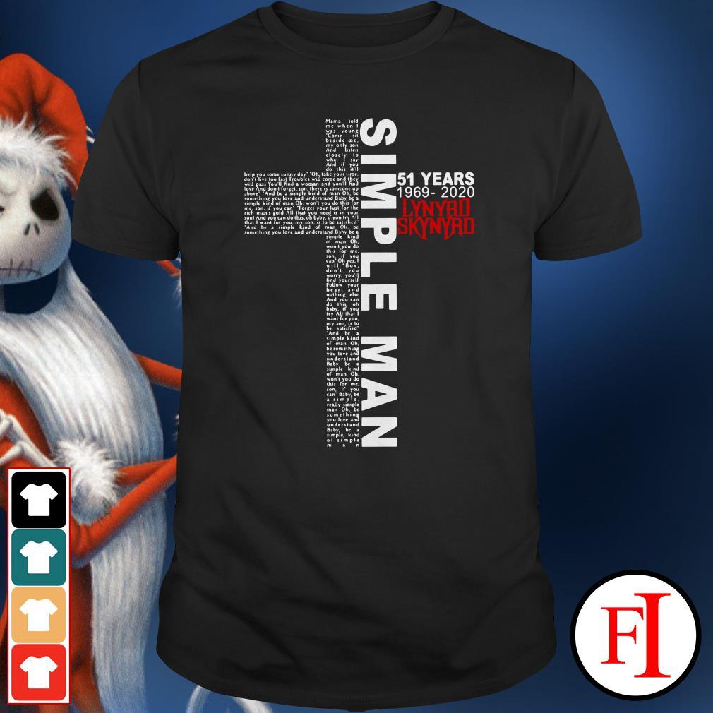 Lynyrd Skynyrd Tour 2020.1969 2020 Lynyrd Skynyrd Simple Man 51 Years Shirt Sweater