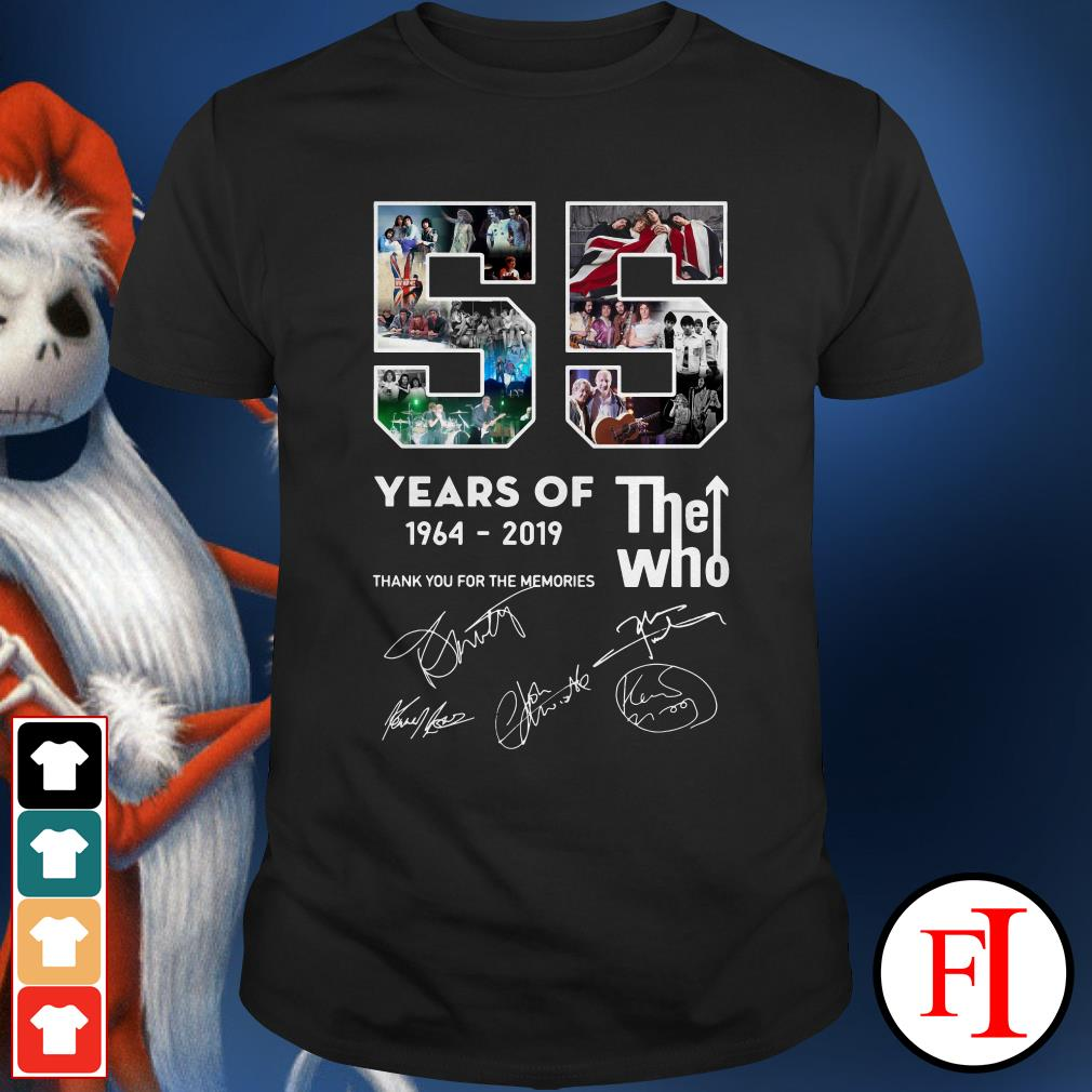 The Who 55 years 1964-2019 thank you for the memories Shirt