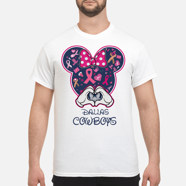 Official Mickey love Dallas Cowboys Breast cancer Shirt