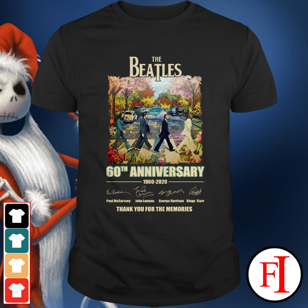 Anniversary 1960-2020 The Beatles 60th thank you for the memories sakura Shirt