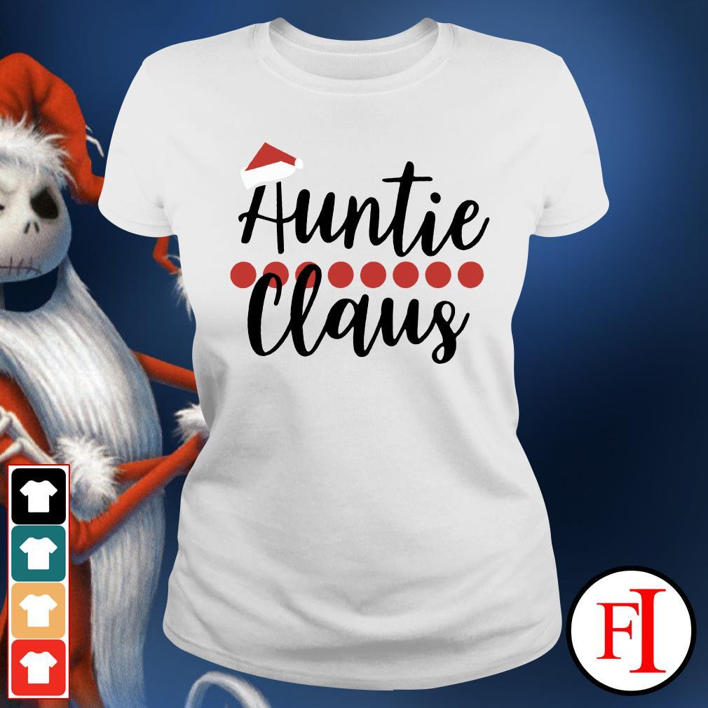Auntie Claus Christmas Ladies Tee