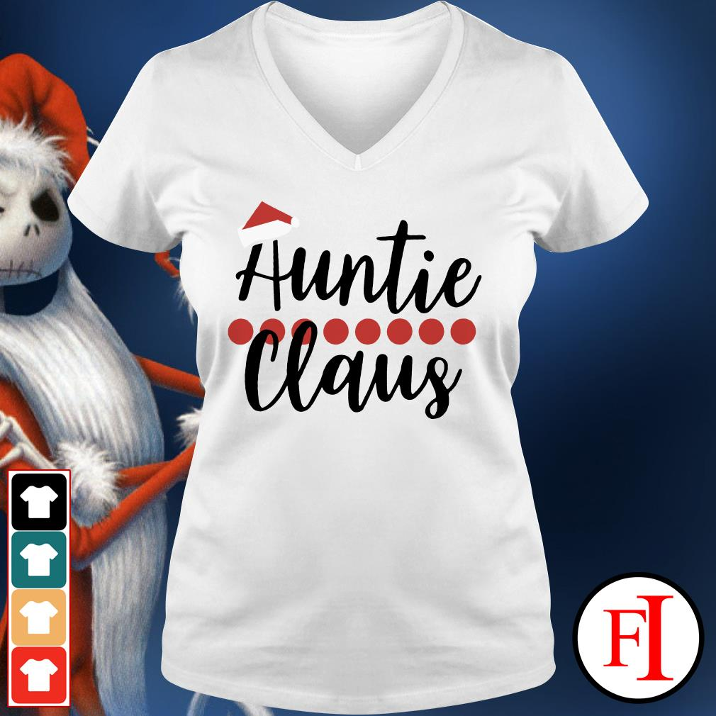 Auntie Claus Christmas V-neck t-shirt