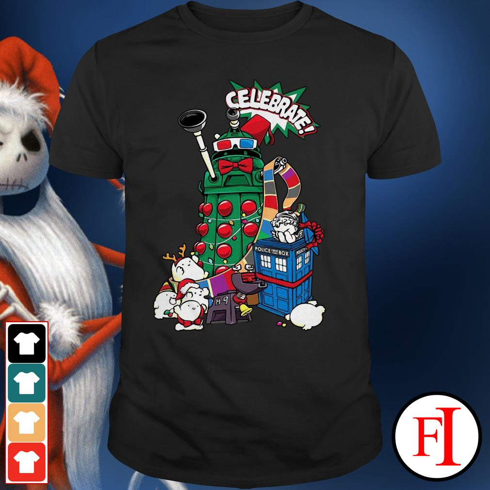 Christmas Doctor Who celebrate Shirt