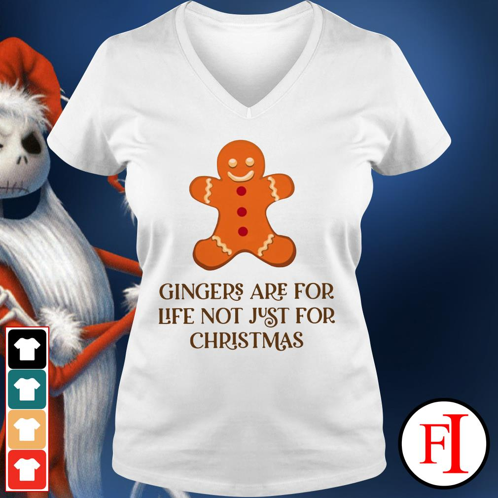 Christmas Gingers are for life not just for V-neck t-shirt