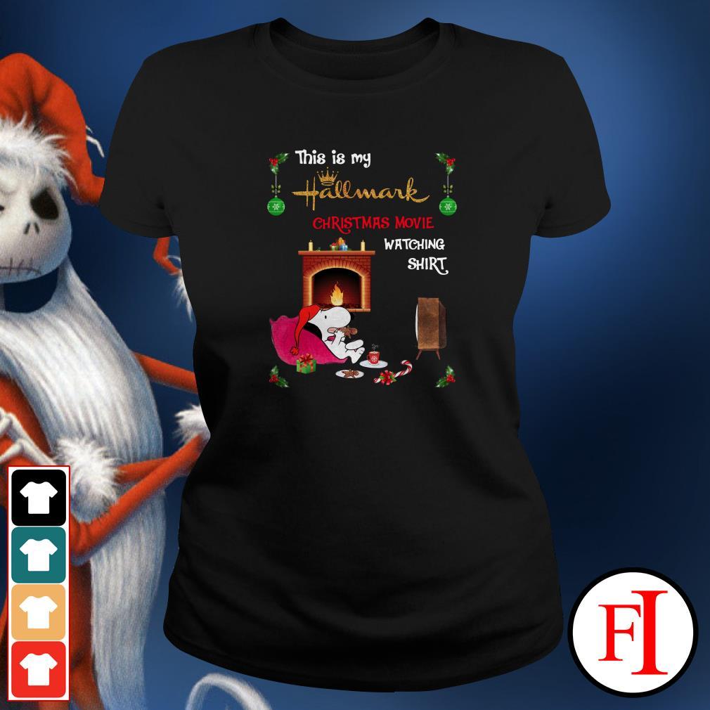 Christmas movie watching Snoopy this is my hallmark Ladies Tee
